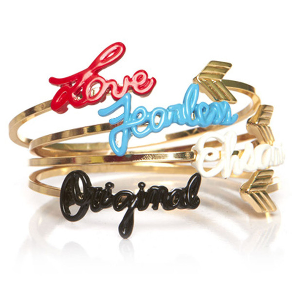 "Crushing on Melody Ehsani's ""Motto"" Bangle set. Wear each individually or stack for a power wrist"