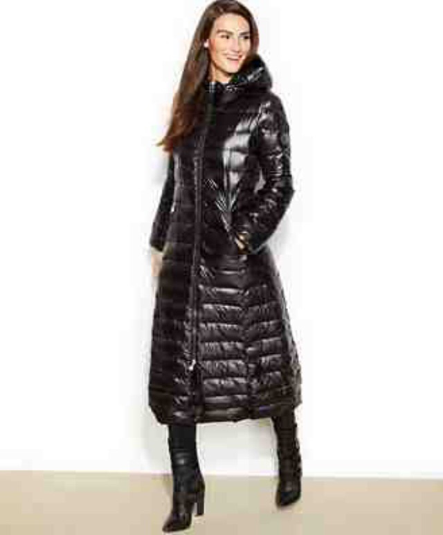 Calvin Klein hooded maxi down coat