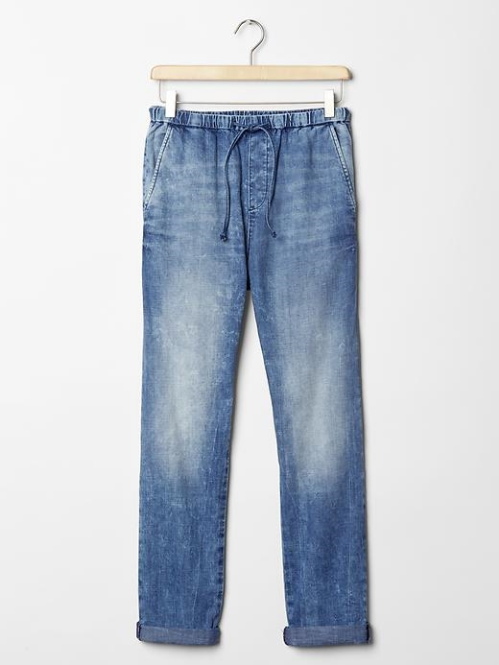 Gap: 1969 denim jogger pants $59.95