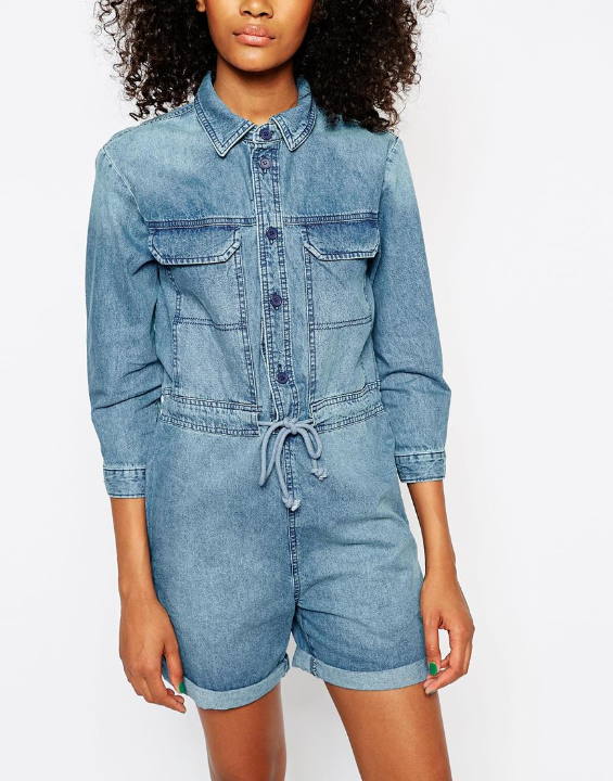Asos Denim 70's romper $73
