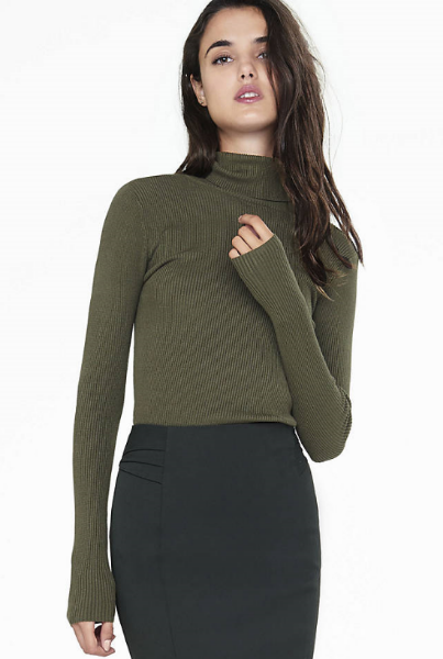 Express Ribbed Turtleneck ( Also available in heather grey and black)
