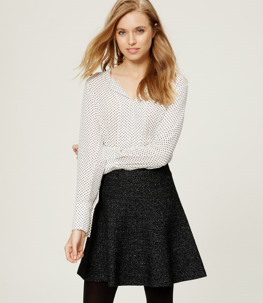 Loft Melange Flippy Skirt