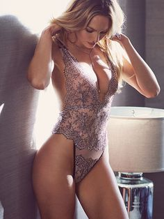 Chantilly Lace Plunge Teddy, Victoria's Secret