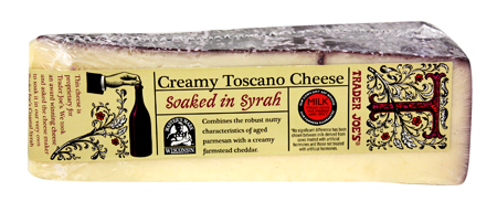 Creamy Toscano Cheese Soaked in Syrah