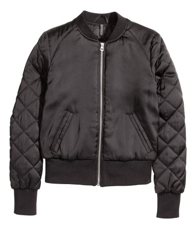 Black Satin Pilot Jacket