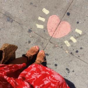 street art hearts