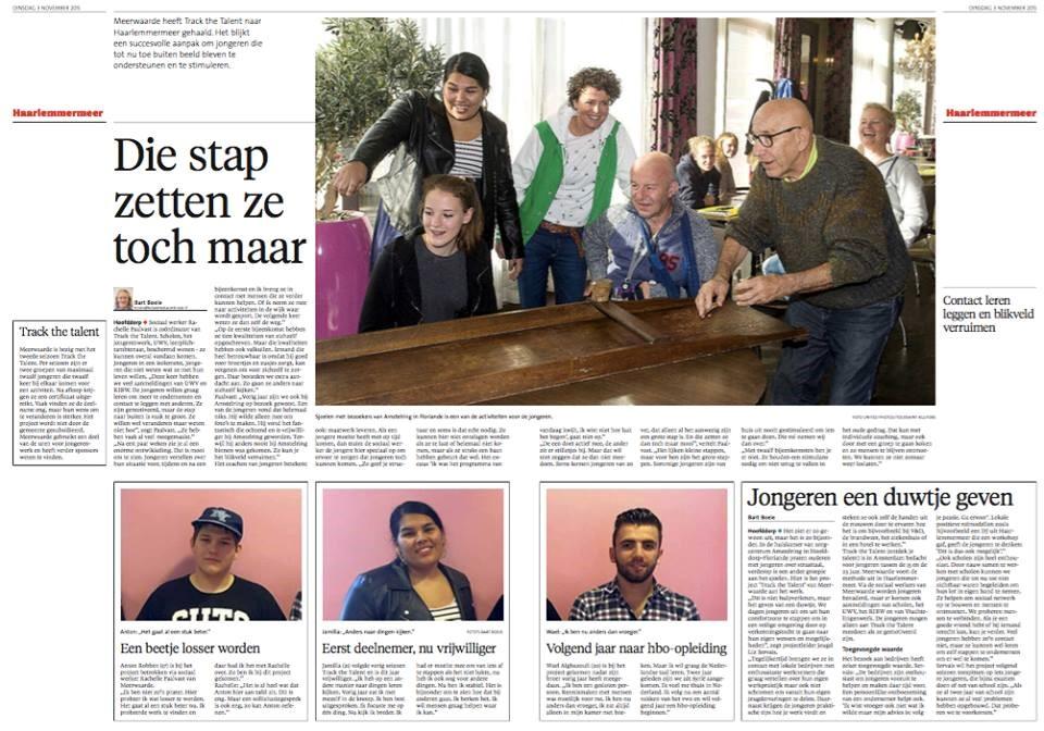 TTT Haarlemmermeer in het Haarlems Dagblad