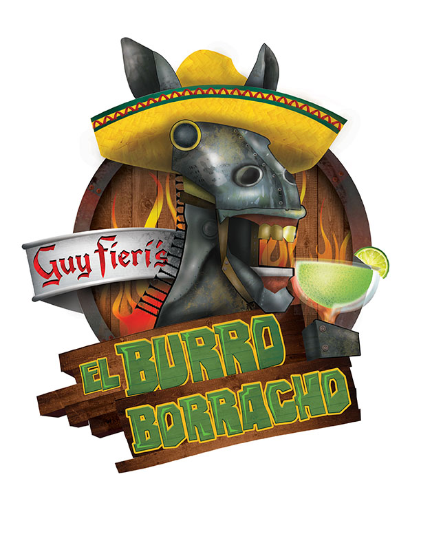 Final Logo. Name of restaurant has changed to El Burro Borracho. Also client has requested a gold tooth.