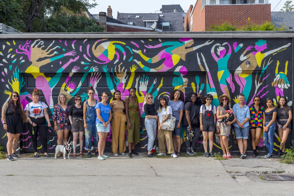 The 2018 Womxn Paint collective