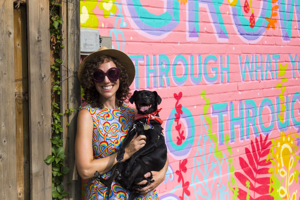 @bkez  and Chloe the mural dog.