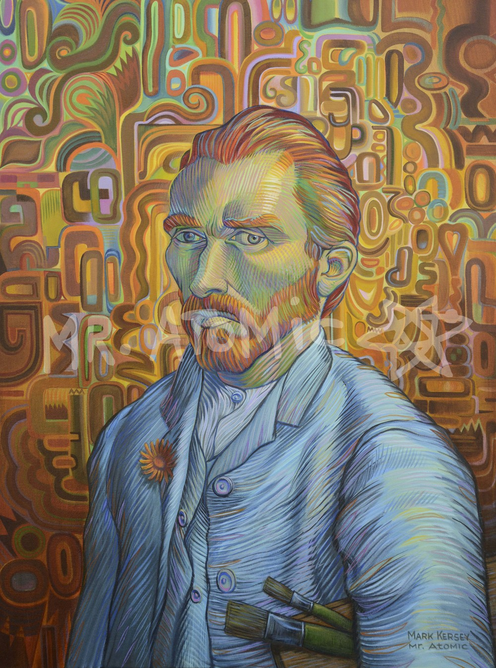 Portrait of Vincent Van Gogh - 3'x4'