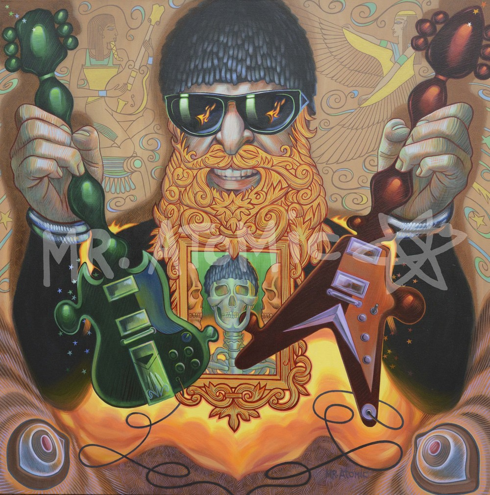 Billy Gibbons/ZZ Top - 4'x4'