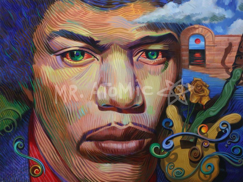 The Black Shaman (Jimi Hendrix) - 3'x4'