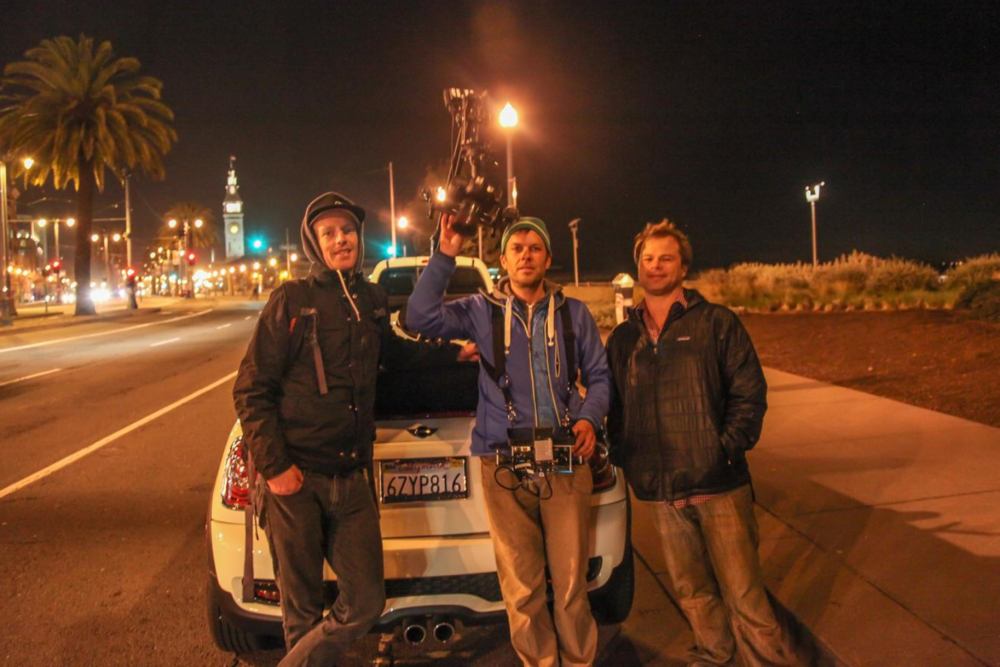 Jamie, Glenn and Mike with MoVI on travel jib.