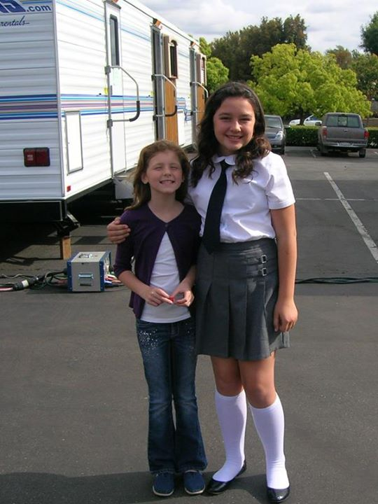 "Ella on the set of ""1600 Penn"" with Amara Miller."