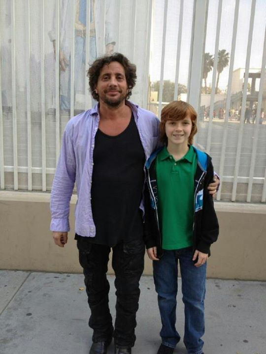 Sam with director Samuel Bayer.