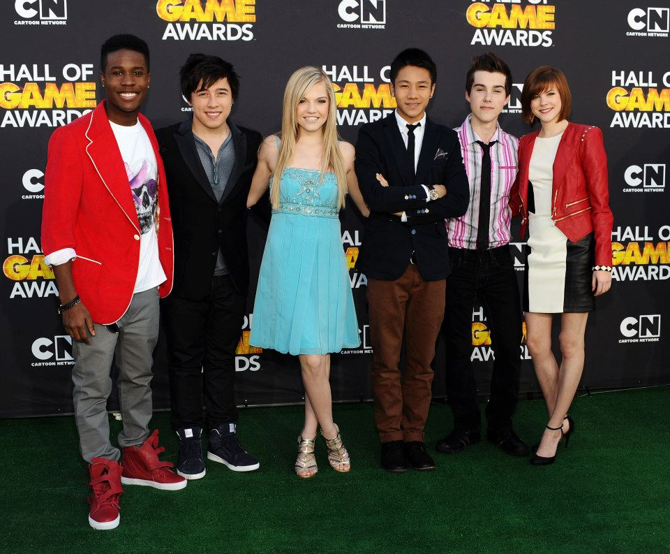 SANTA MONICA, CA - FEBRUARY 09: (L-R) Actors Shameik Moore, Tristan Pasterick, Shauna Case, Brandon Soo Hoo, Jeremy Shada and Chanelle Peloso attend the Third Annual Hall of Game Awards hosted by Cartoon Network at Barker Hangar on February 9, 2013 in Santa Monica, California. 23270_002_SK_0054.JPG (Photo by Stefanie Keenan/WireImage) 2013 Stefanie Keenan     — at   Cartoon Network Hall of Game Awards  .