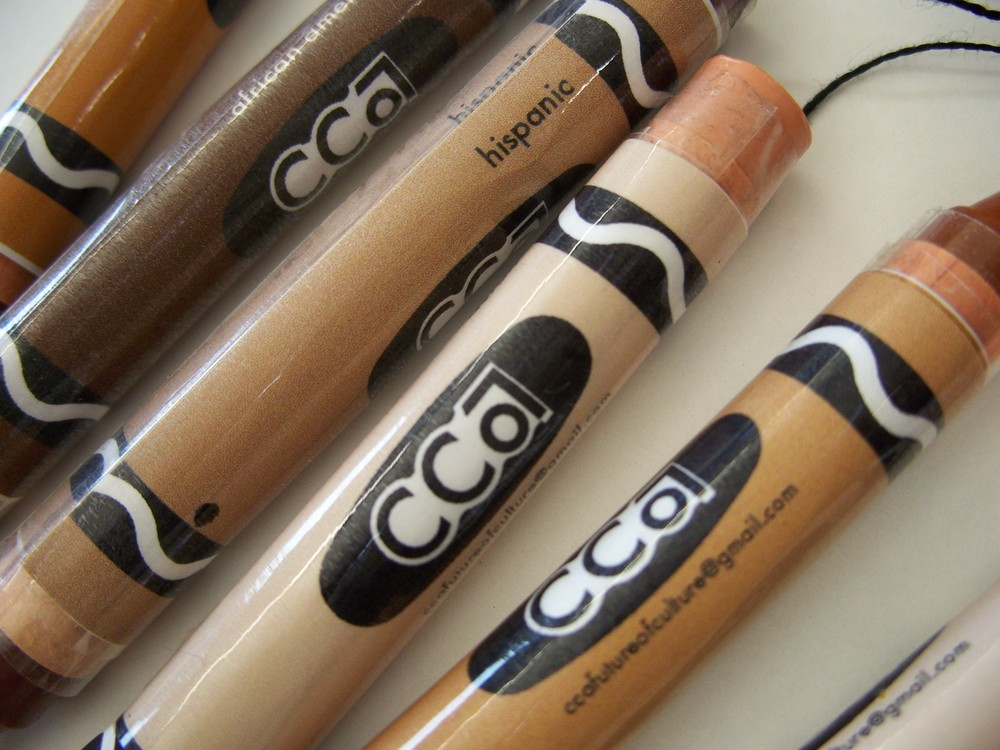 "Custom CCA ""Future of Culture"" crayons"