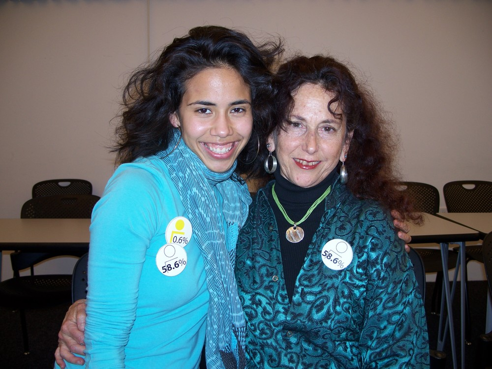 Camille Hoffman with classmate, Miranda Bergman