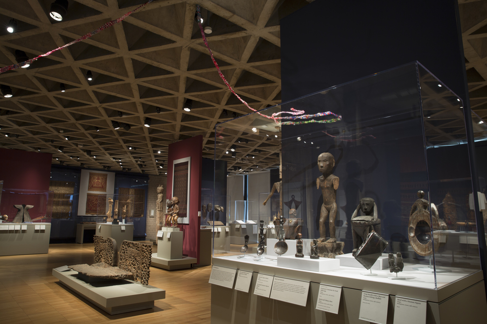 2014 installation connecting to 19th century Ifugao Ancestor Figure, Yale University Art Gallery, New Haven, CT