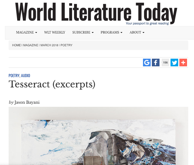 WORLD LITERATURE TODAY -