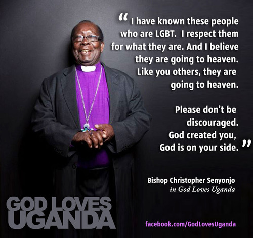 Bishop Christopher Senyonjo, one of the reasonable voices in God Loves Uganda that brings us hope that better days will come.