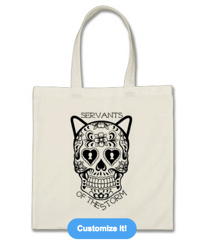 This is the basic tote, but you can use this design on a fancier tote, a different color tote, or a grocery bag.