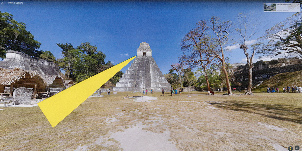 "Site Proposals: Tikal National Park   2017  archival inkjet print  13"" x 24"""