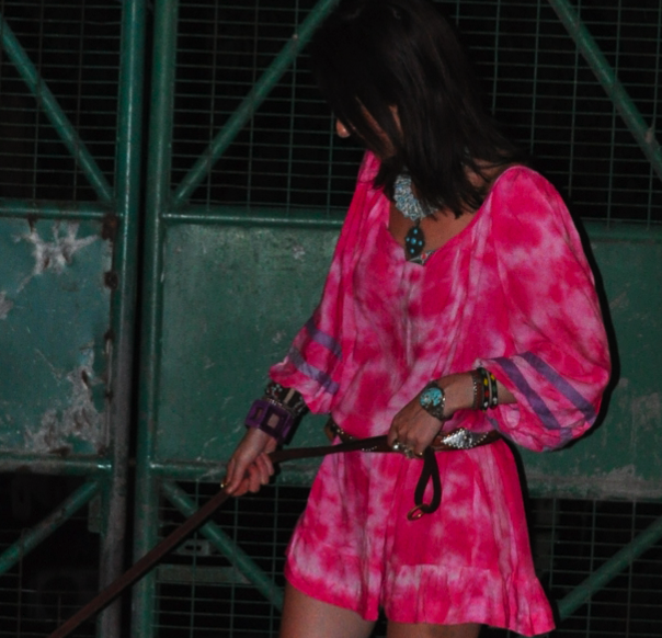 Indie Dress in Fuschia Tie Dye