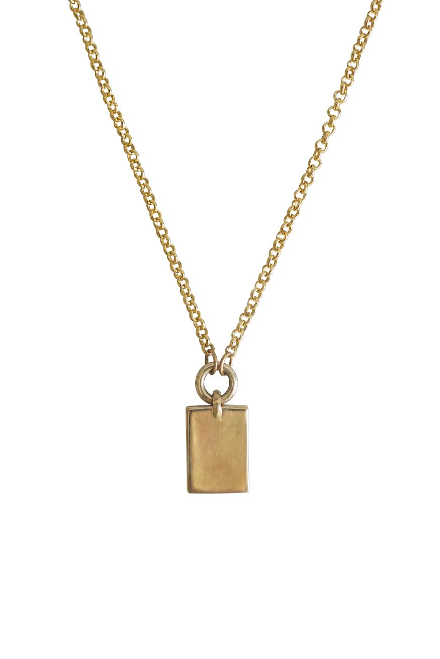 inc necklace thread karat nameplate golden rectangle products