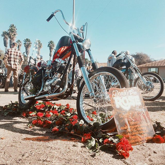 Come out to David Mann show and check out the latest out of @coffeecoffeela and @evil_spirit_engineering 🌹RAMBLE ON ROSE🌹 congrats Jay the bike is amazing happy we could be a part of it