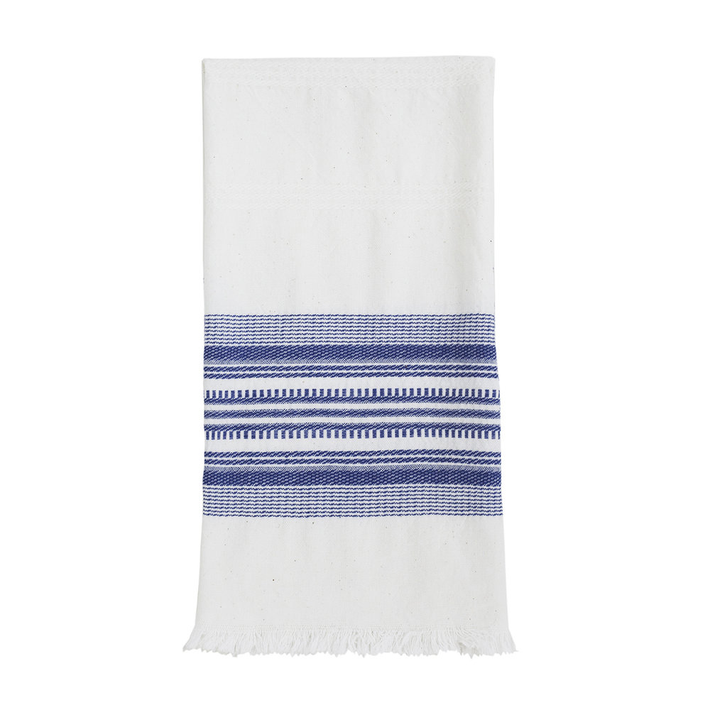Superieur Classic Towel White And French Blue WEB