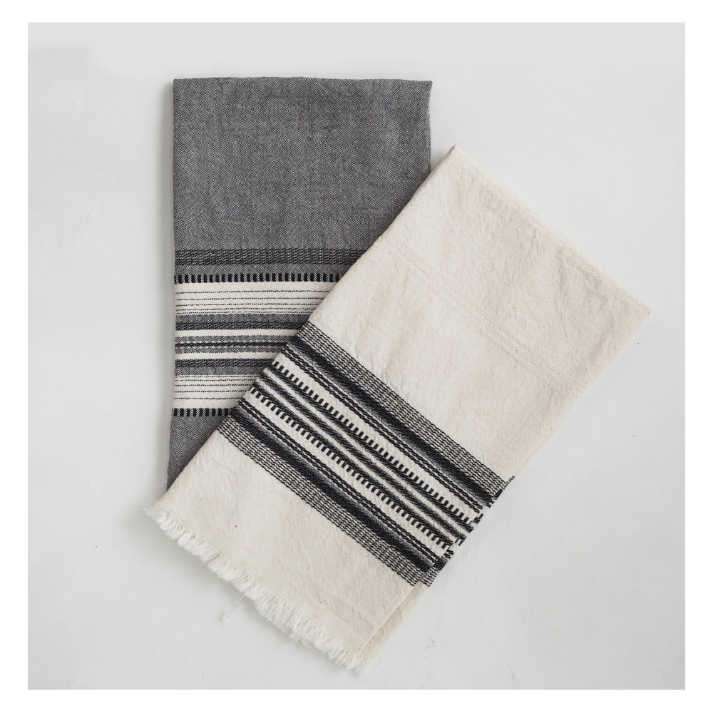 Cream And Black Kitchen Towel