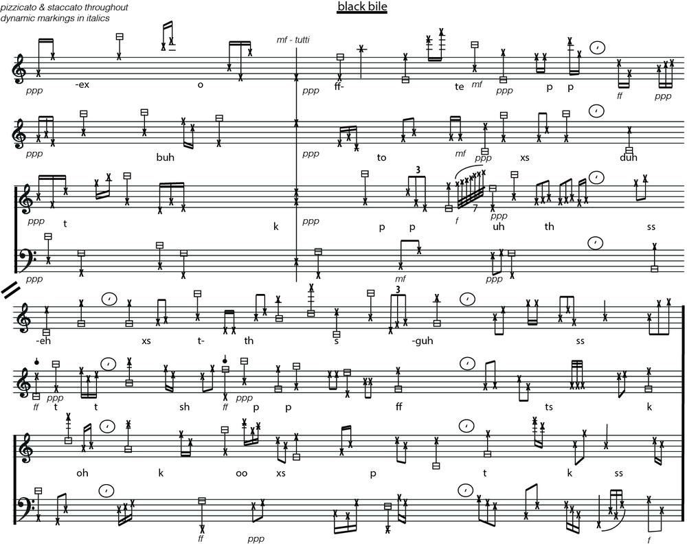 Black Bile - Score