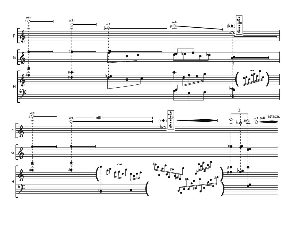 Ashen Curtain score, p. 1