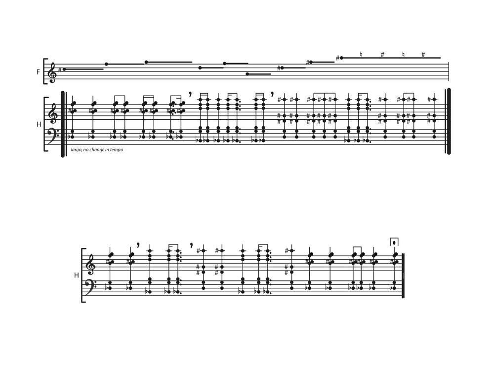 Ashen Curtain  score, p. 6
