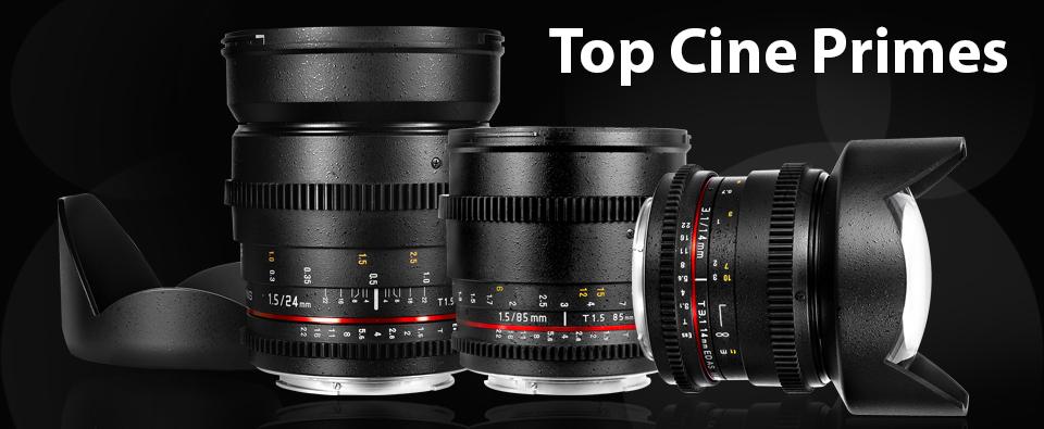 Notre gamme d'optiques cinéma Rokinon