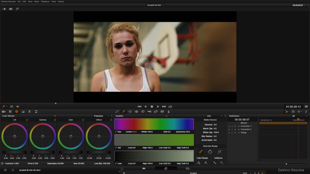 Da VInci Resolve :Notre puissant logiciel de post-production permettant de sublimer nos images.