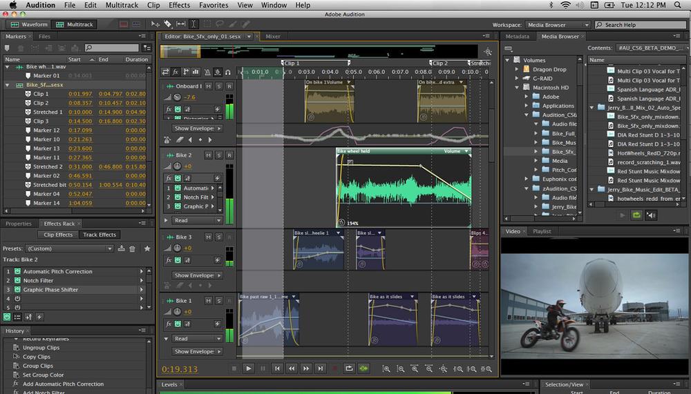 Adobe Audition CC : Notre logiciel prévu à toutes les phases de mixage audio