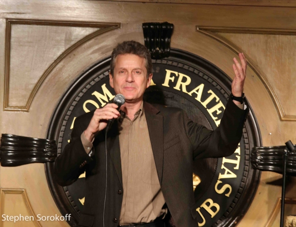 Scott performing at The Friars Club in New York.
