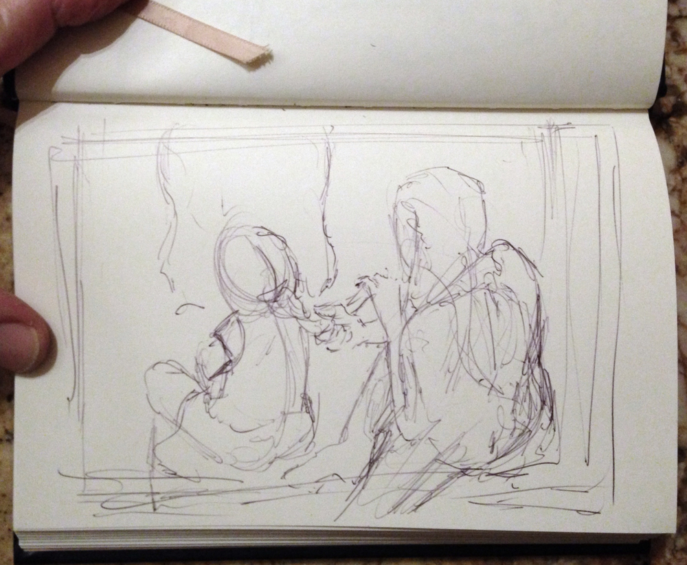Thumbnail drawing using ballpoint