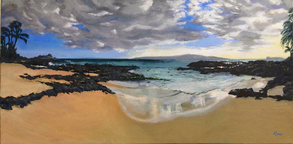 "Lava Beach Maui 18""x 36"""