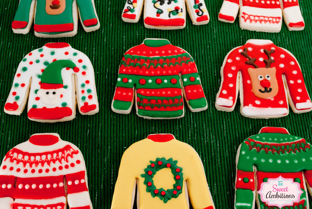 ugly christmas sweaters sweet ambitions - How To Decorate A Ugly Christmas Sweater