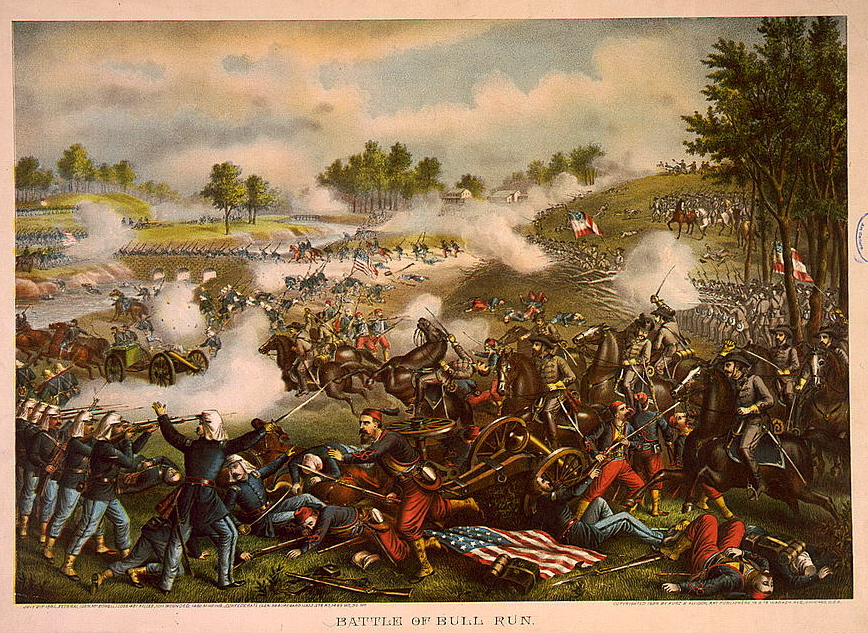 A commemorative lithograph of Bull Run, c. 1890. (Library of Congress)