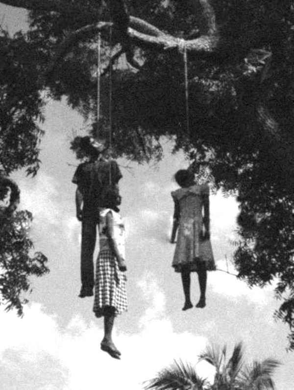 Three unidentified black children victims of a random lynching in the 1960s. Such events fueled the sociopolitical climate of the civil rights movement