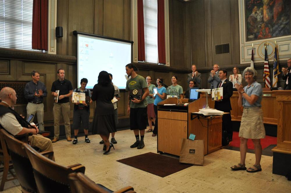 The awards were given out at the Asheville City Council meeting.