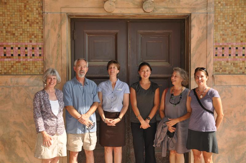 2011 Workplace Challenge Winners: Claudia and Mike with Liberty Bikes, Julie with Western North Carolina Alliance, Ching with REI, Terri with Buncombe County Government, and Lynn with Evergreen Community Charter School.
