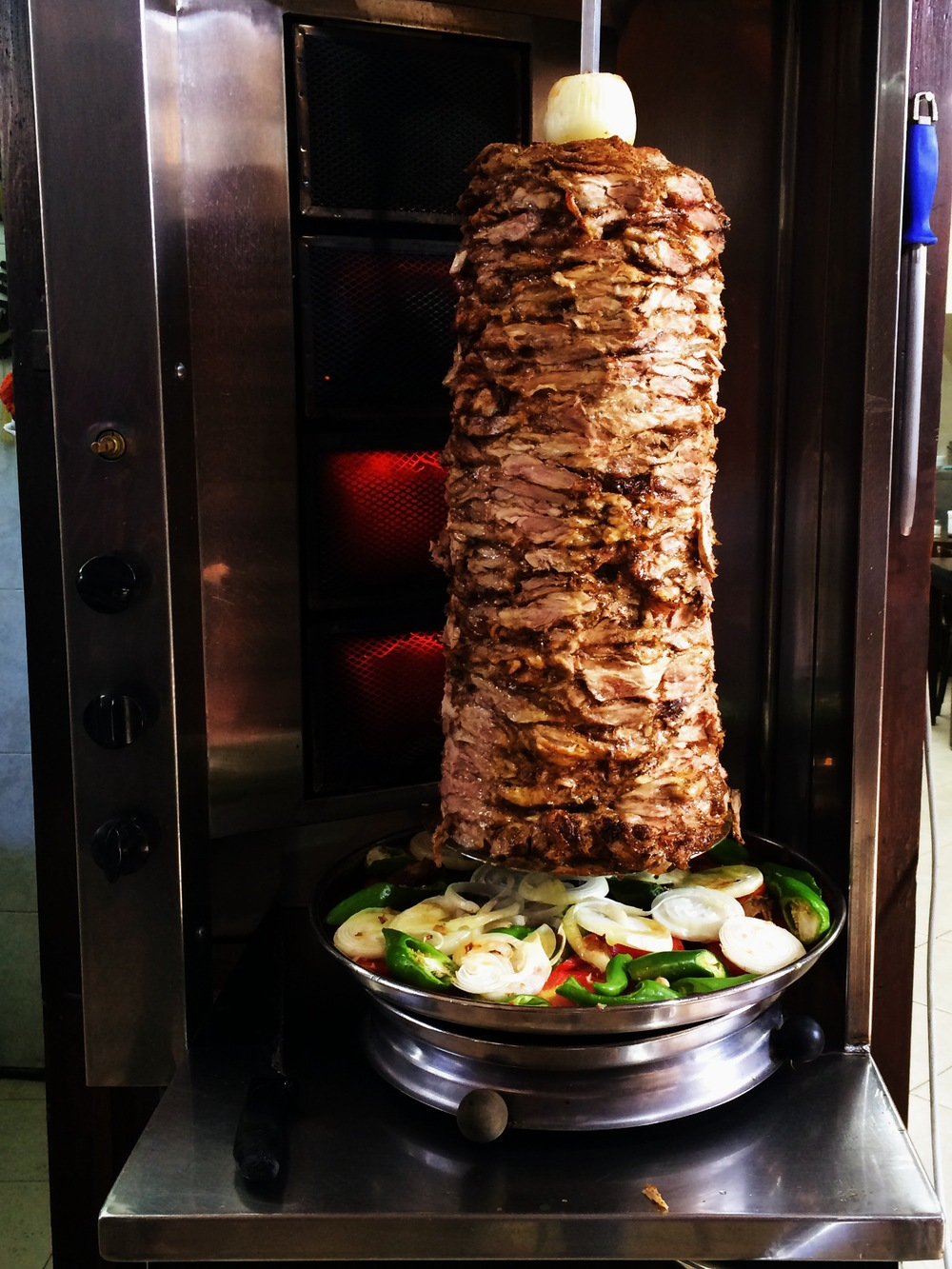 Israeli cuisine is not ethnically original but rather is a confluence of its immigrant. Like the Shawarma, an originally Arabic import, it is not rather commonly found in every market in the country. Yet, it is decidedly different in flavor from the ones I taste in Turkey.