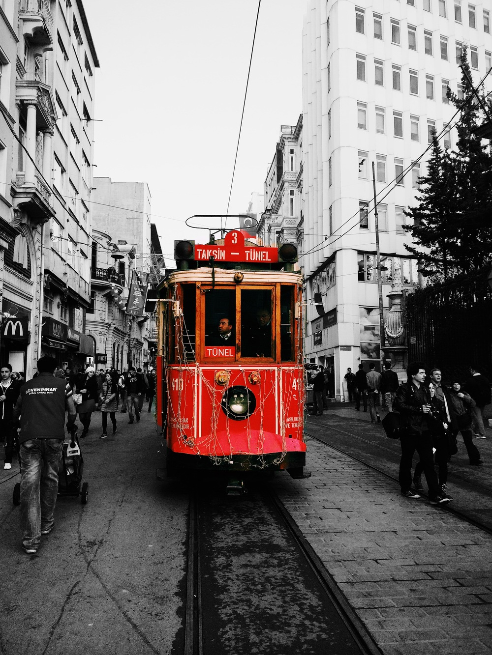 The historic tram line in Taksim. I love taking public transport in any place I go to because it gives me a sense of everyday life. Istanbul is easily walkable but it is also well connected by trams and metros.