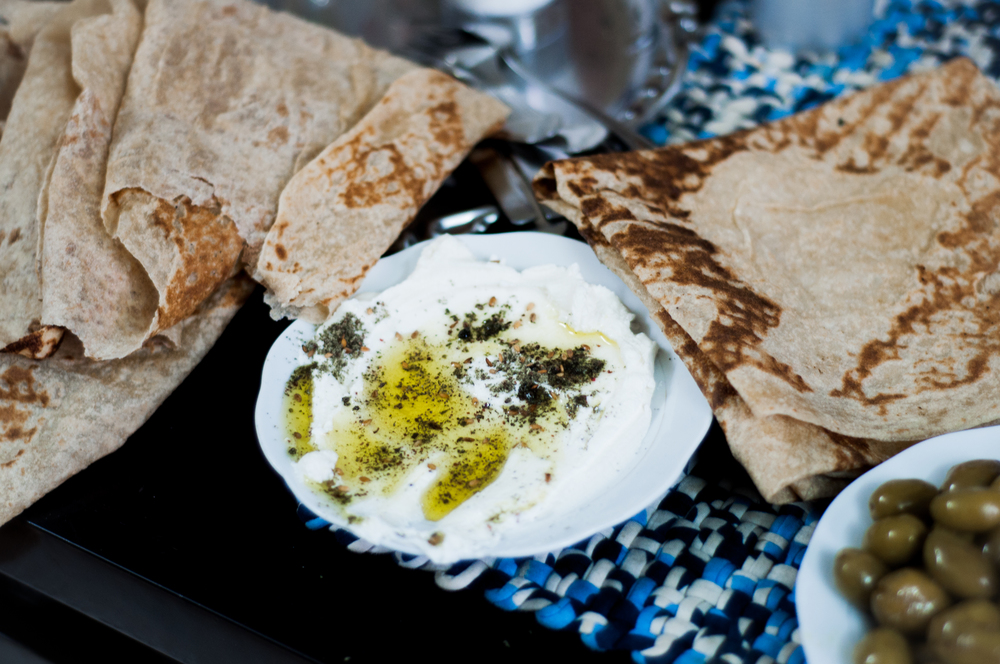 Yogurt is used extensively across Israel and all cultures. Labneh, the ever present strained yogurt cheese of the Middle East is something that is eaten in all meals and served to all visitors. Galilee is an olive growing region and many make their livelihood during the olive season from the trees. Preserved olives is not surprisingly one of the many starters often served.